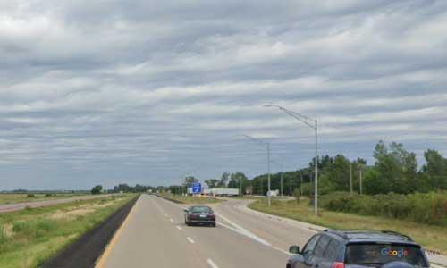 ia interstate 29 iowa i29 missouri valley rest area mile marker 79 northbound off ramp exit