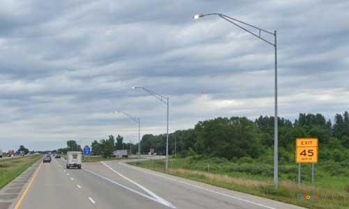 ia interstate 29 iowa i29 onawa valley rest area mile marker 110 northbound off ramp exit