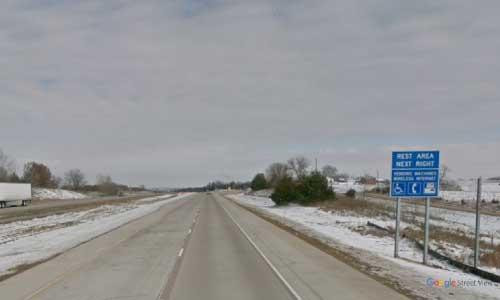 ia interstate 35 iowa i35 lamoni welcome center mile marker 7 northbound off ramp exit