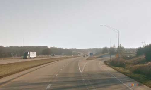 ia interstate 35 iowa i35 osceola rest area mile marker 33 southbound off ramp exit