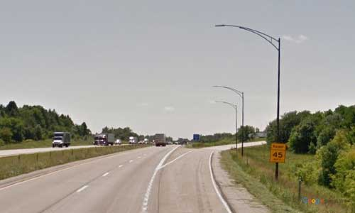 ia interstate 35 iowa i35 story city rest area mile marker 119 southbound off ramp exit