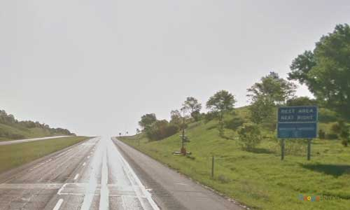 ia interstate 680 iowa i680 loveland rest area mile marker 16 eastbound off ramp exit