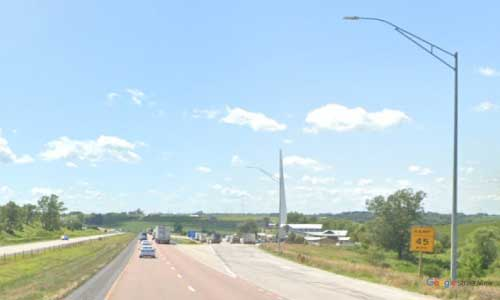 ia interstate 80 iowa i80 adair rest area mile marker 80 westbound off ramp exit