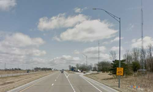 ia interstate 80 iowa i80 davenport rest area mile marker 300 eastbound off ramp exit
