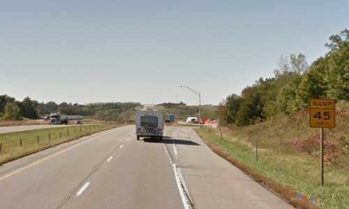 ia interstate 80 iowa i80 grinnell rest area mile marker 180 westbound off ramp exit