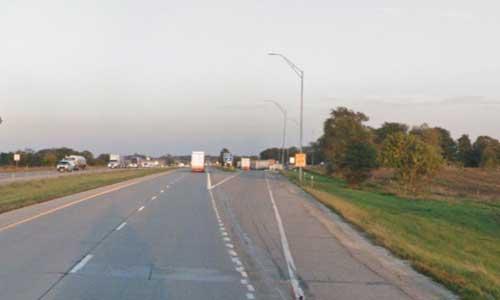 ia interstate 80 iowa i80 mitchellville rest area mile marker 147 eastbound off ramp exit