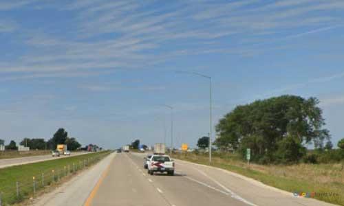 ia interstate 80 iowa i80 mitchellville rest area mile marker 147 westbound off ramp exit