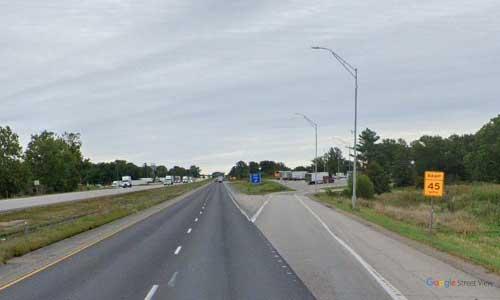 ia interstate 80 iowa i80 tiffin rest area mile marker 237 eastbound off ramp exit