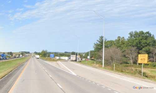 ia interstate 80 iowa i80 tiffin rest area mile marker 237 westbound off ramp exit