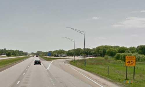ia interstate 80 iowa i80 underwood rest area mile marker 19 westbound off ramp exit