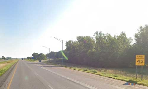 ia interstate 80 iowa i80 underwood welcome center mile marker 19 eastbound off ramp exit