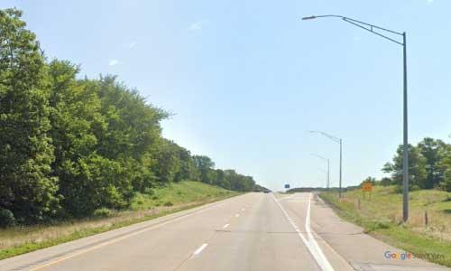 ia interstate 80 iowa i80 wilton rest area mile marker 270 eastbound off ramp exit